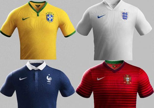 Nike vestirá a 10 selecciones en el Mundial de Brasil 2014 ... f7b6257917bcb