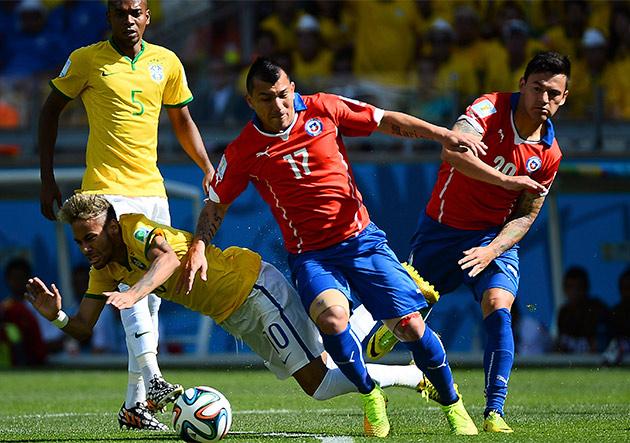 Un Brasil en forma se mide en Londres a un Chile alicaído