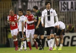 Futbol, Colo Colo v Independiente de Santa Fe.