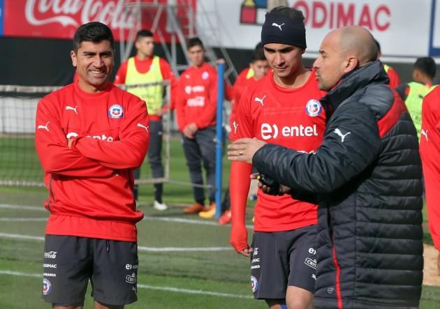 Entrenamiento de la Seleccion Chilena de Futbol.