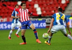 Sporting Gijon Espanyol_jugada_2016