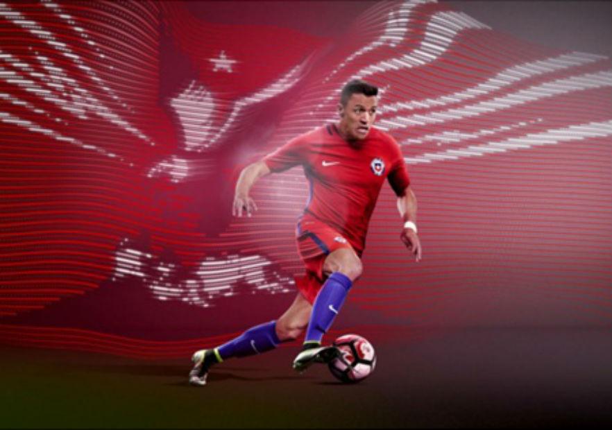Alexis_Sanchez_Nike_camiseta_roja_2016