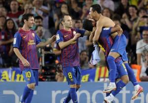 Barcelona's Chilean forward Alexis Sanch