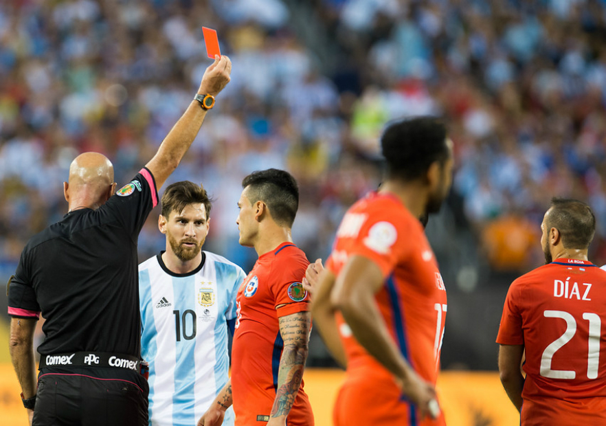 Chile Argentina Final Diaz expulsion