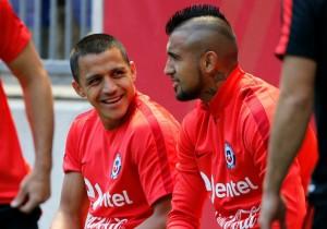 Entrenamiento Chile Vidal Alexis