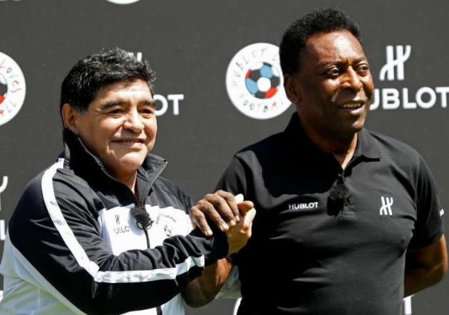 """Maradona a Pelé: """"A Messi le falta personalidad como para ser líder ..."""