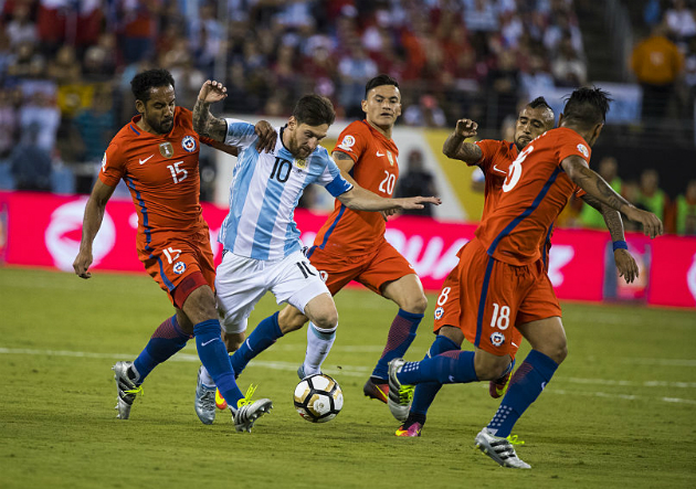 Messi Argentina Chile