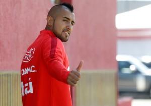 Arturo Vidal - entrenamiento