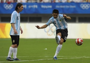 Riquelme_Messi_Argentina_Getty