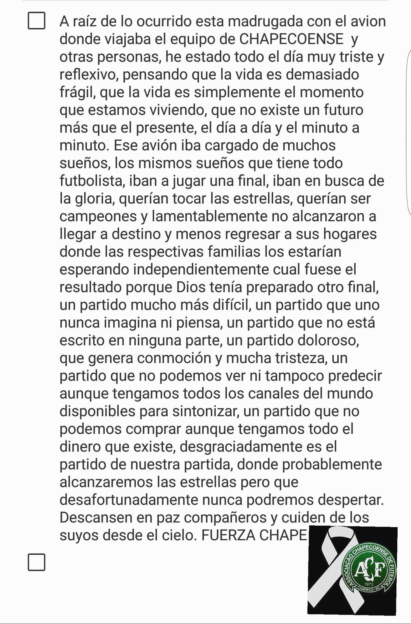 Carta_Marcelo_Diaz_Chapecoense