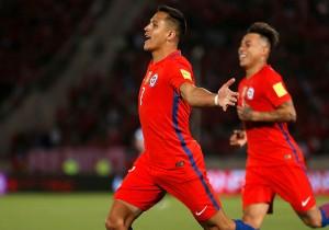 Chile vs Uruguay - Sánchez celebra 2 - Clasificatorias