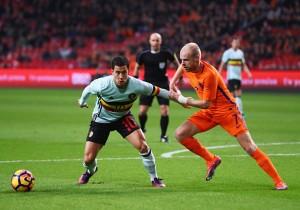 Holanda vs Bélgica - Eden Hazard y Davy Klaassen