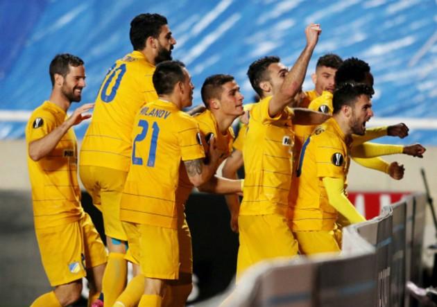 APOEL_Athletic_Celebran_Europa_League_2017_Getty