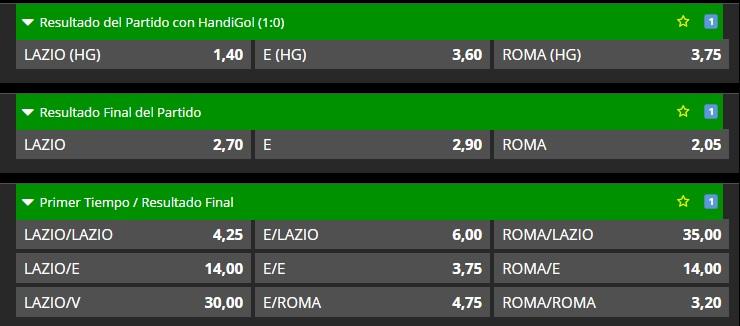 Partido único - Lazio vs Roma