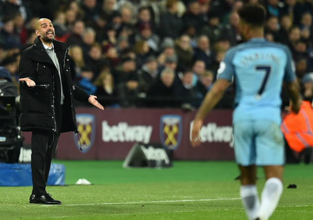 West_Ham_Manchester_City_Guardiola_Sterling_2017_Getty