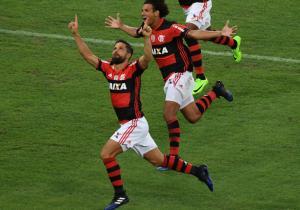 Diego-gol-fLAMENGO-SAN LORENZO-Libertadores-2017-getty