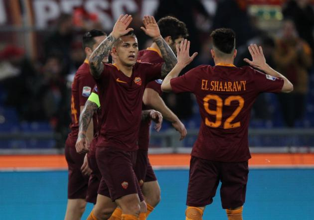 Paredes_celebracion_Roma_Sassuolo_serieA_2017_getty