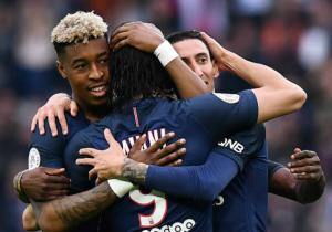 PSG_Celebra_Montpellier_Ligue1_2017_Getty