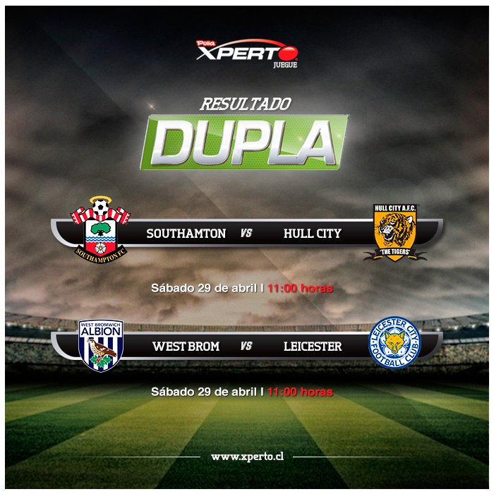 Partido dupla - Southampton vs Hull y West Bromwich vs Leicester