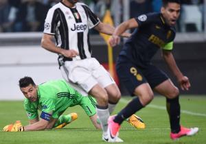 Juventus_Mónaco_Semis_Vuelta_Champions_Buffon_Falcao_Getty
