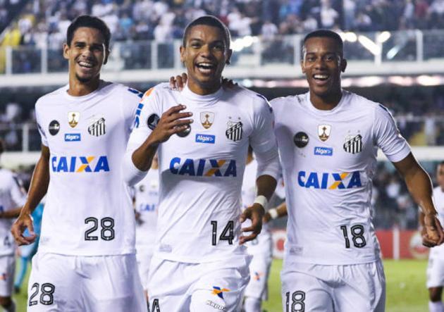 Santos_celebra_Sporting_Cristal_Libertadores_2017_Getty