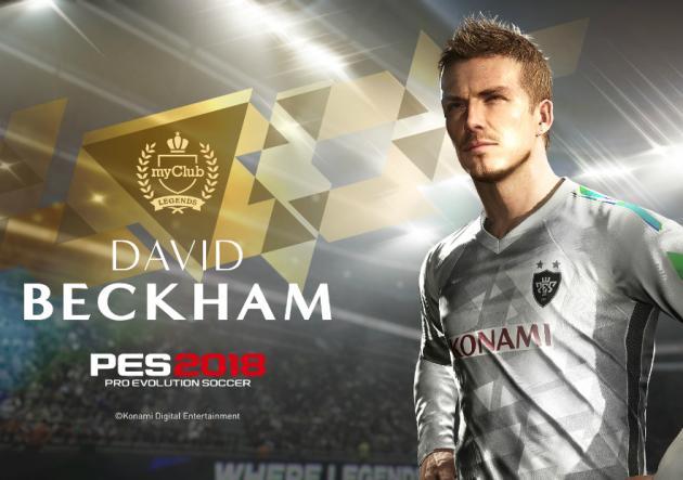David Beckham estará en exclusiva en PES 2018