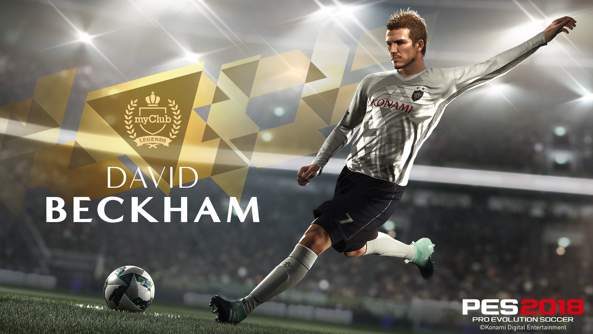 David Beckham estará en exclusiva en PES 2018
