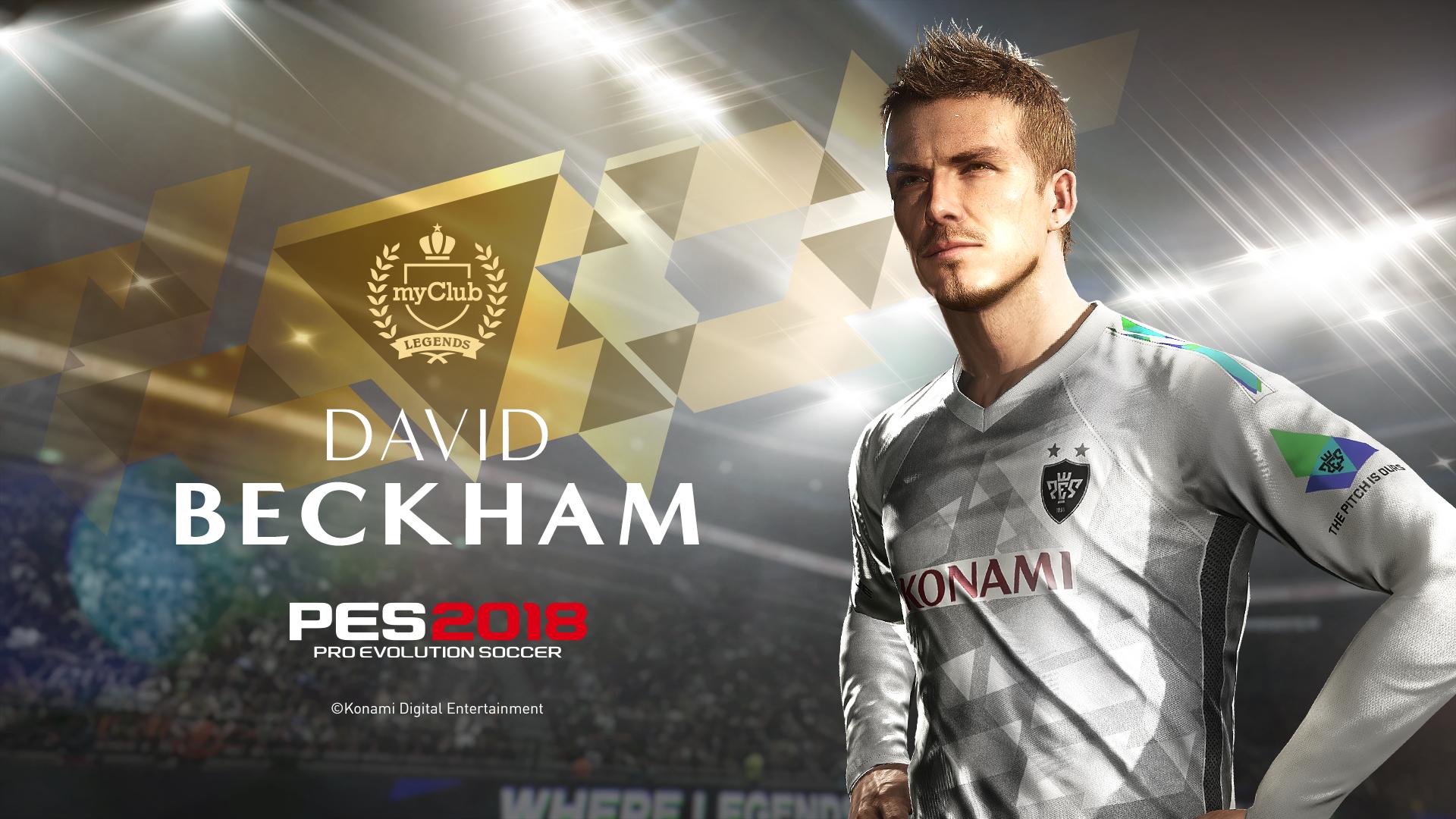 David Beckham será Leyenda en Pro Evolution Soccer 2018