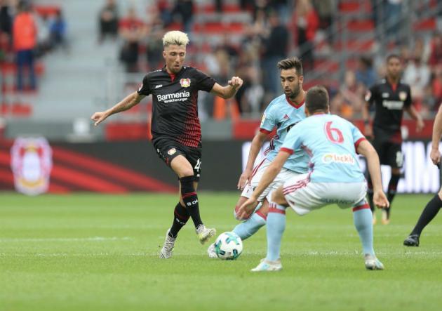 Hernández jugó el amistoso entre Leverkusen y Celta de Vigo