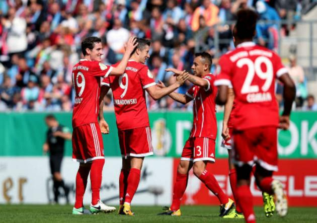 Mientras James Rodríguez se recupera, Bayern Múnich golea en la Copa Alemania