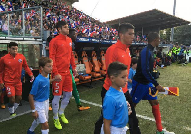 Selección Chilena Sub 21 empata ante Francia en un amistoso internacional