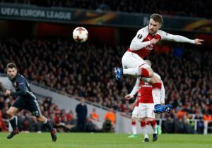 Arsenal_CSKA_Ramsey_taco_Europa_League_2018_Getty