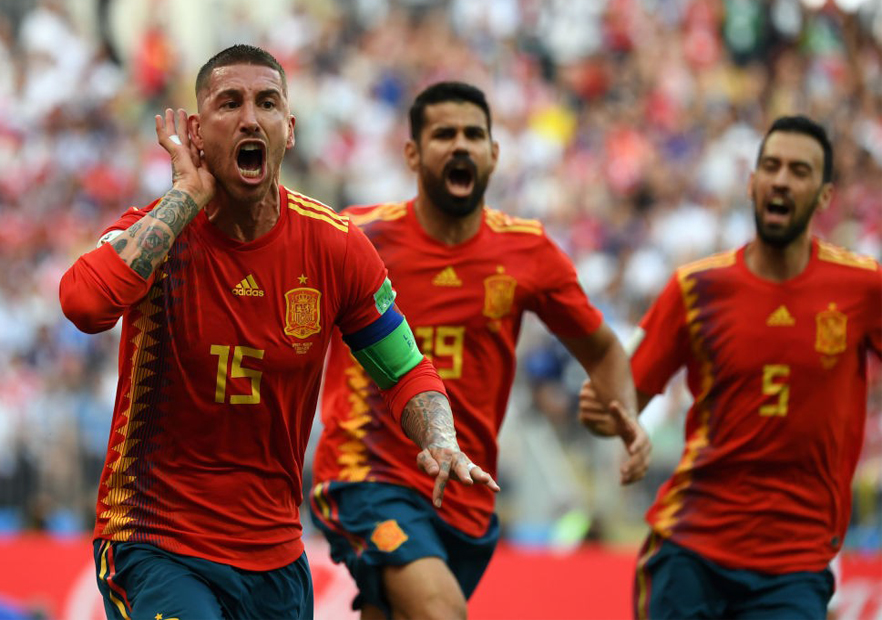 España_Rusia_Ramos_celebra_Mundial_Rusia_2018_Getty_2