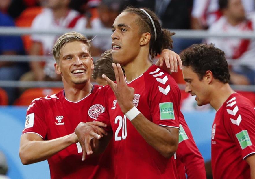 Perú_Dinamarca_Poulsen_celebra_Mundial_Rusia_2018_Getty