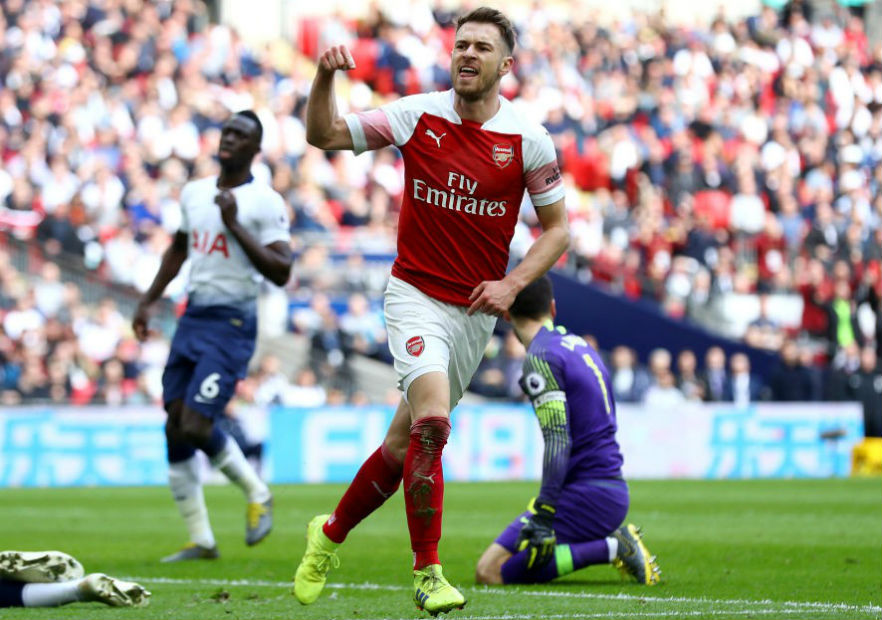 Ramsey_gol_Tottenham_Arsenal_2019_getty