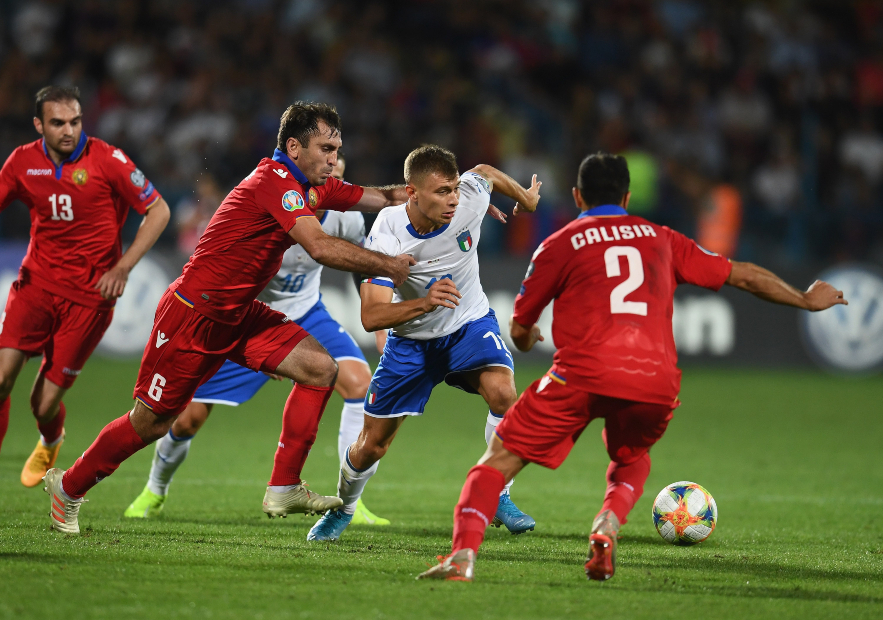 <> during the UEFA Euro 2020 qualifier between Armenia and Italy at Republican Stadium after Vazgen Sargsyan on September 5, 2019 in Yerevan, Armenia.