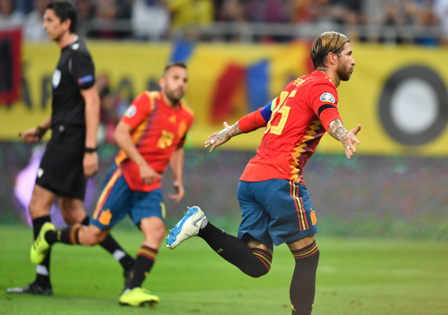 Rumania_España_Clasificatorias_Euro2020_Ramos_Festeja_Getty